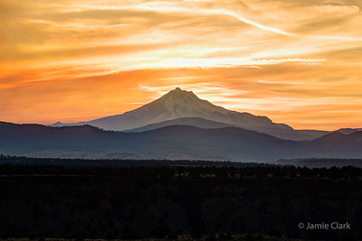 Suset at Mt. Jefferson @ Palisades State Park, Oregon - epic Eclipse Camping Trip of August 2017
