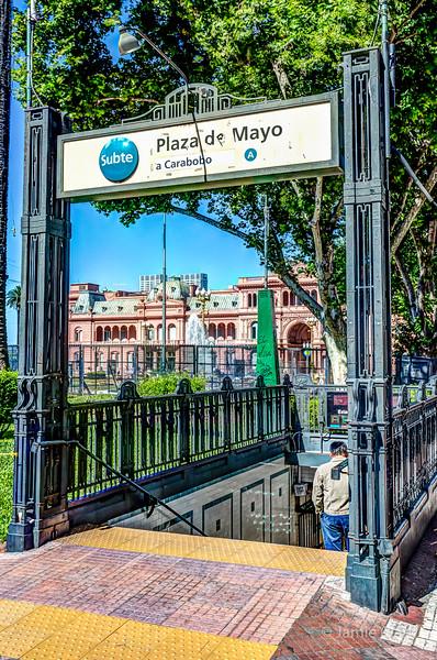 Subway Stop, Plaza Mayor.  Line A