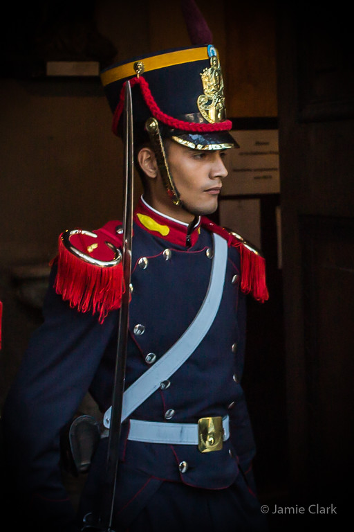 On Guard at the Metropolitan Cathedral