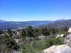 Looking further west at Big Bear Lake.