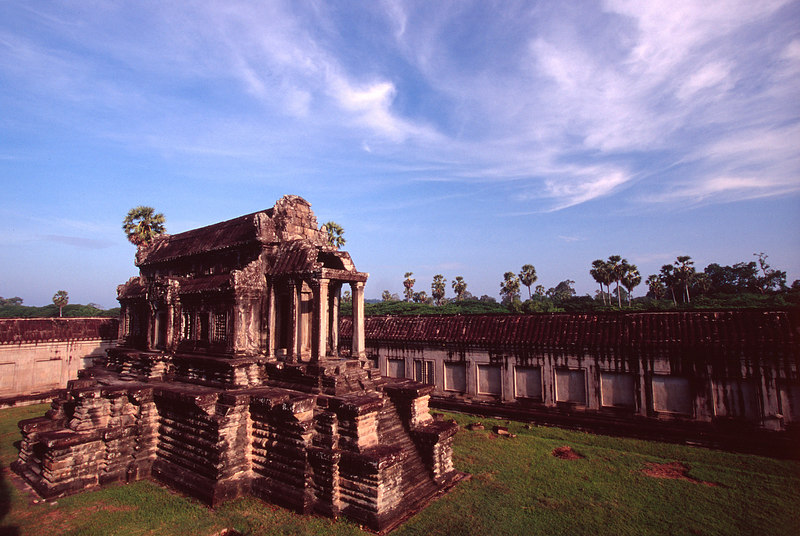 Temple and Clouds, Angkor Wat<br /> (Cambodia, 2004)
