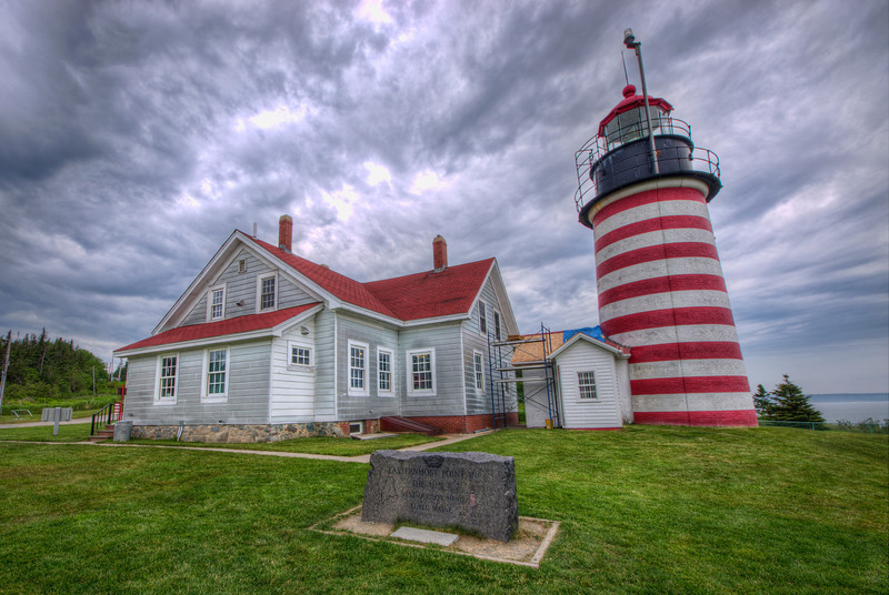 """West Quoddy Head Lighthouse in Lubec, Maine. The easternmost point in the US.<br /> <a href=""""http://www.richarsenault.com/content/2013/06/west-quoddy-head-lighthouse/"""">http://www.richarsenault.com/content/2013/06/west-quoddy-head-lighthouse/</a>"""