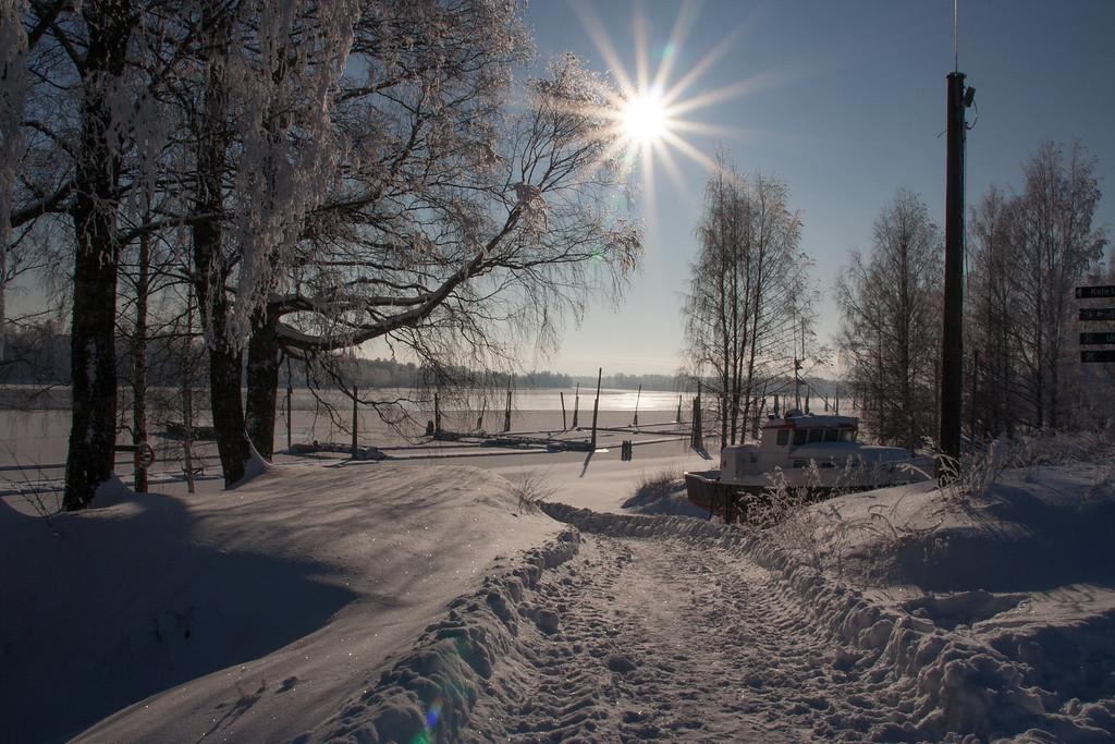 Vintersol over Fetsund lenser