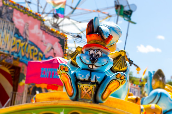 Amusement Park Bunny With Top Hat