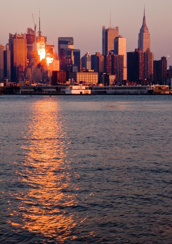 NYC Sunset Reflection