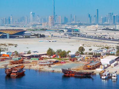 Dubai Morning Waterfront Cityscape