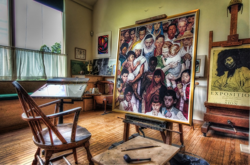 Norman Rockwell's studio at the Normal Rockwell Museum in Stockbridge, MA.