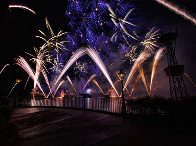 Fireworks at EPCOT at Walt Disney World in November 2013.