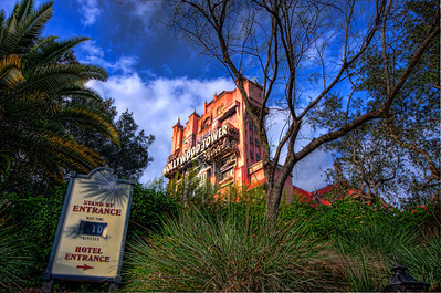 The Tower of Terror at Disney's Hollywood Studios on 11/14/2013