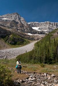 at Plain of Six Glaciers