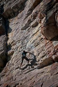 rock climber at Lake Louise