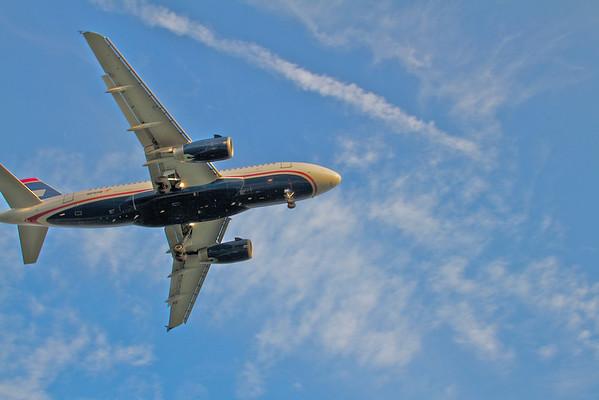 Planes landing at The Philadelphia Airport