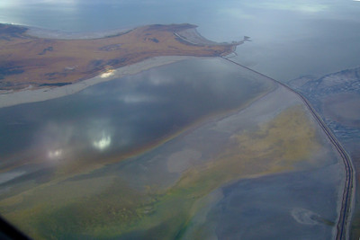 The Great Salt Lake, in turbulent weather