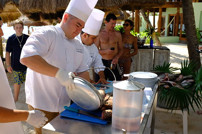 Playa del Carmen Beach Cooking 2017