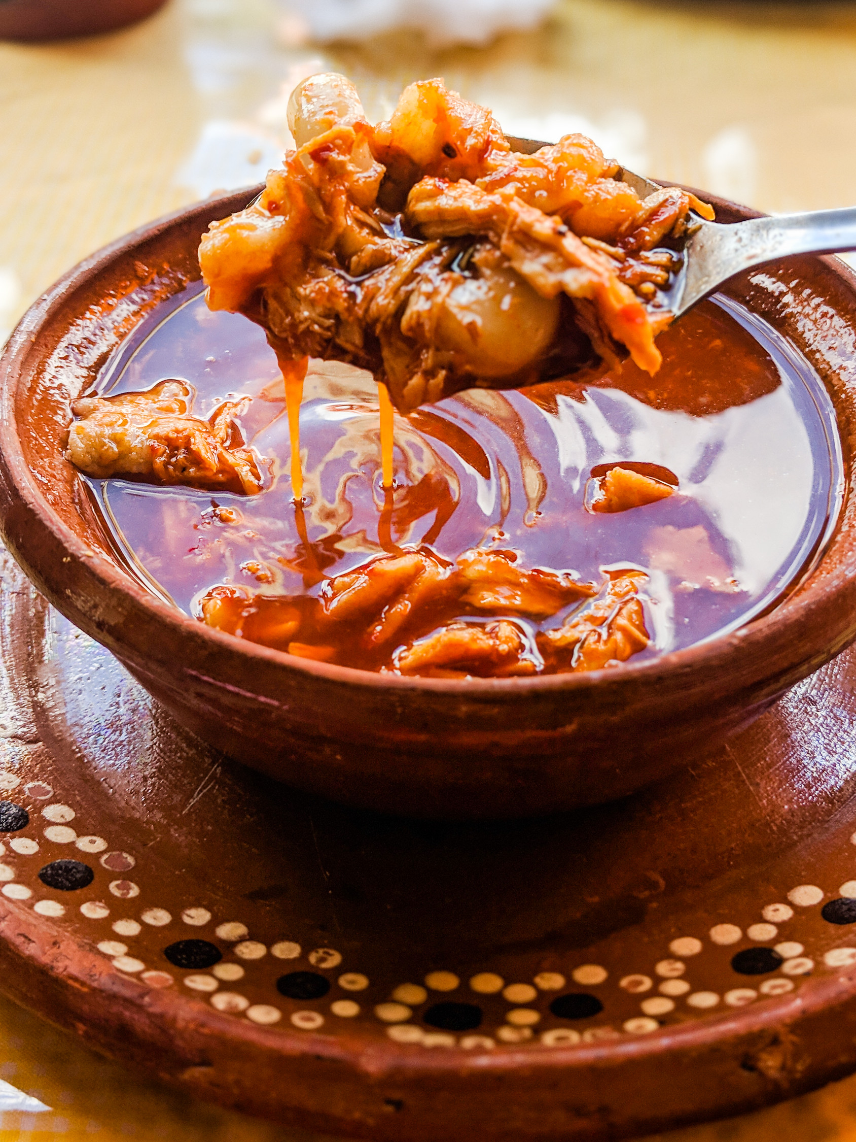 Pozole is a traditional Mexican food eaten around the country.