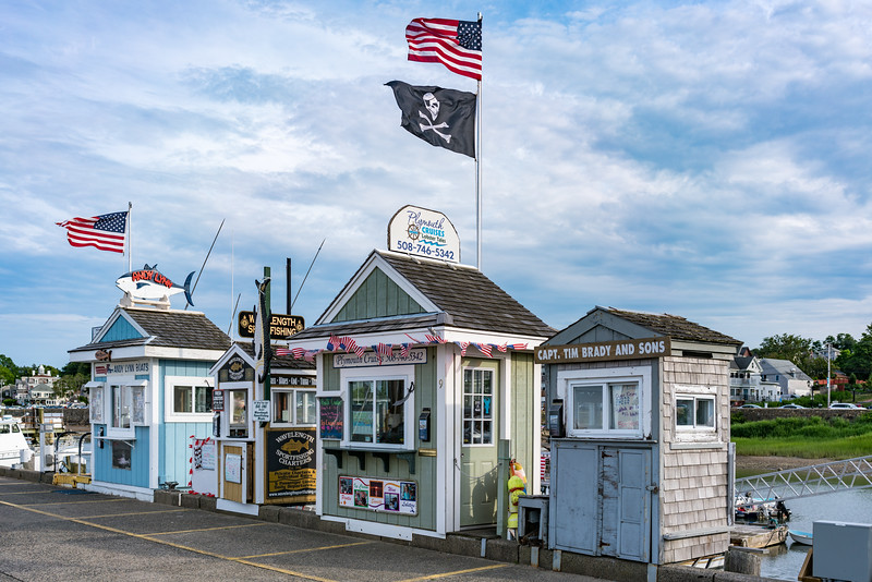 Charter boat shacks