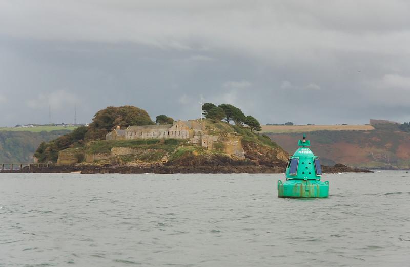 Drake's Island guarding Plymouth Sound