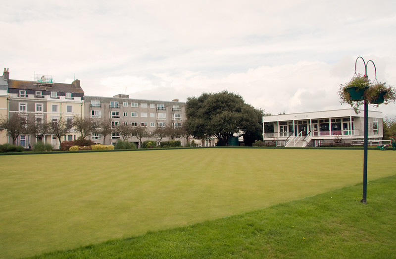 The bowling green on the Hoe