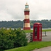 Smeaton's Tower, moved to the Hoe in 1877 from the Eddystone Rocks
