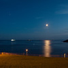 Moon-rise, Plymouth Harbor, Devon, UK