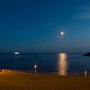 Moon-rise, Plymouth Harbor, Devon, UK