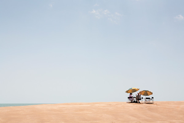 Darwin's sandbank picnic