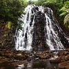 The gorgeous Kepirohi waterfall on the south side of the island.