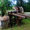 A long abandoned artillery piece overlooking Kolonia harbor.