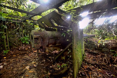 Abandoned Japanese battery overlooking the southern part of the island.