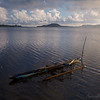 Outrigger canoe used by native fishermen.