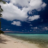 A lonely beach on the barrier reef surrounding Pohnpei.