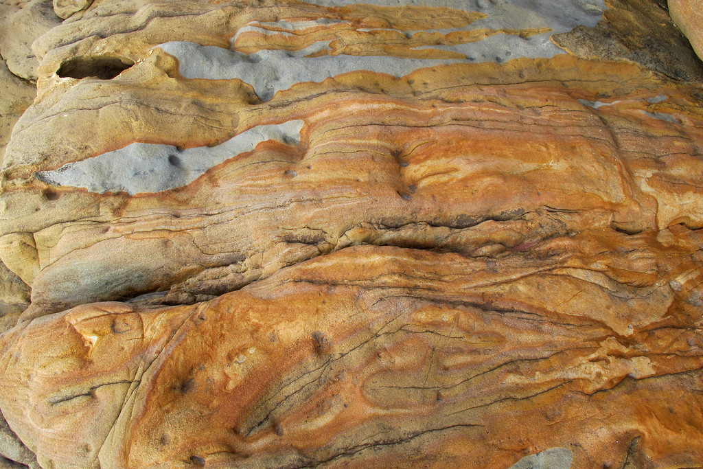 Close up of the rock, great colors.