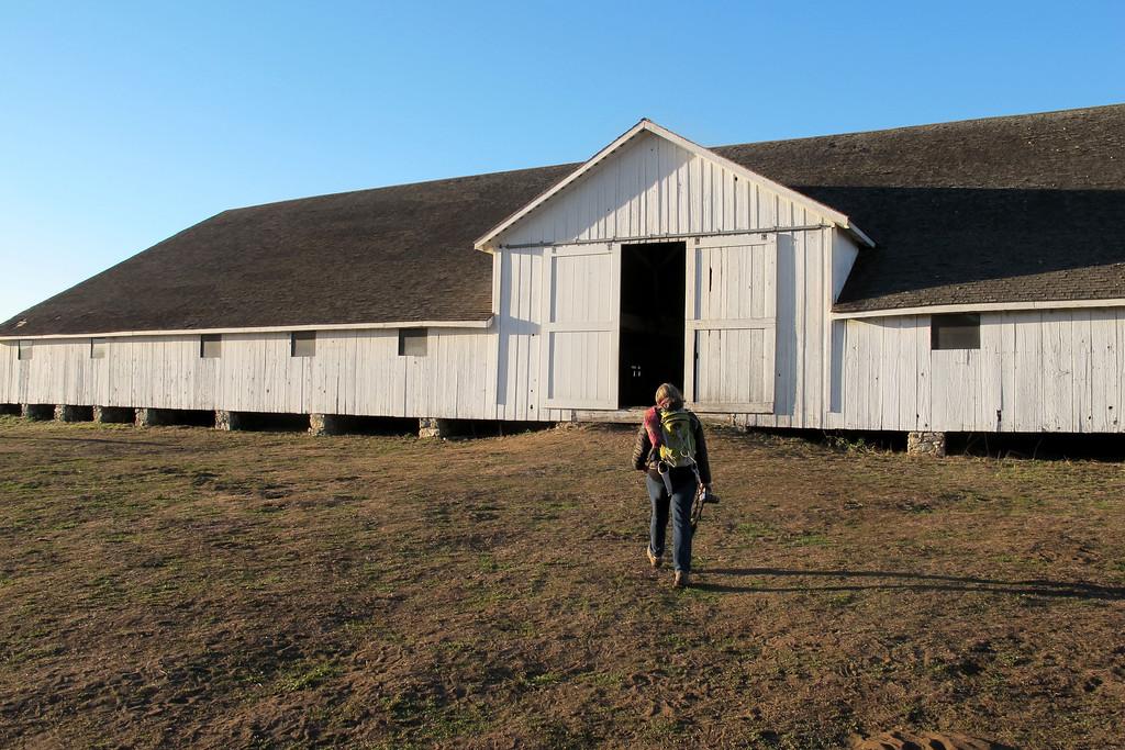 At the Pierce Point Ranch which is at the trailhead. We checked out the ranch before starting the hike. This is the barn where they milked the cows.