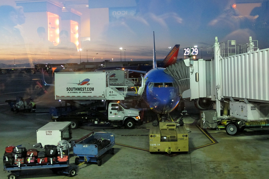 At the Oakland Airport, my plane was a little late. Should be boarding soon.