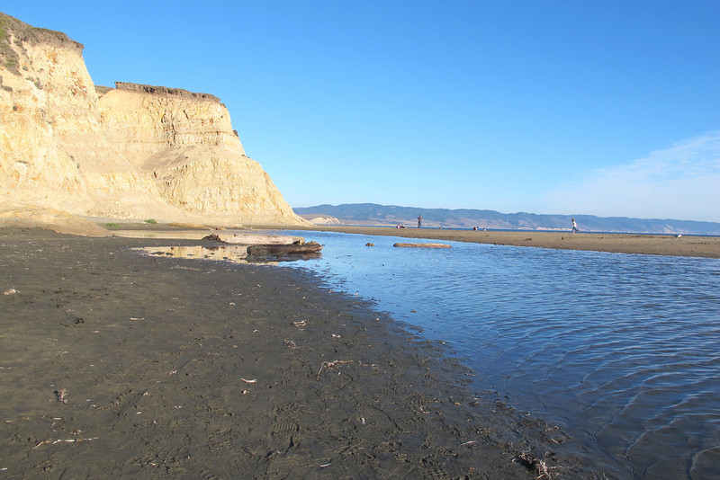 At Drakes Beach, we could see these cliffs from the Elephant Seal Overlook.