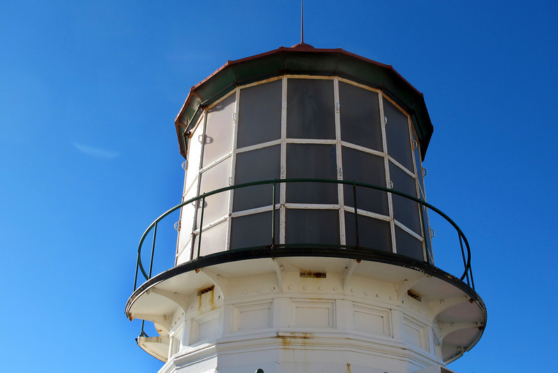Back outside, a view of the lighthouse windows.