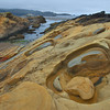 Rock formations at coastline, Point Lobos State Reserve, California