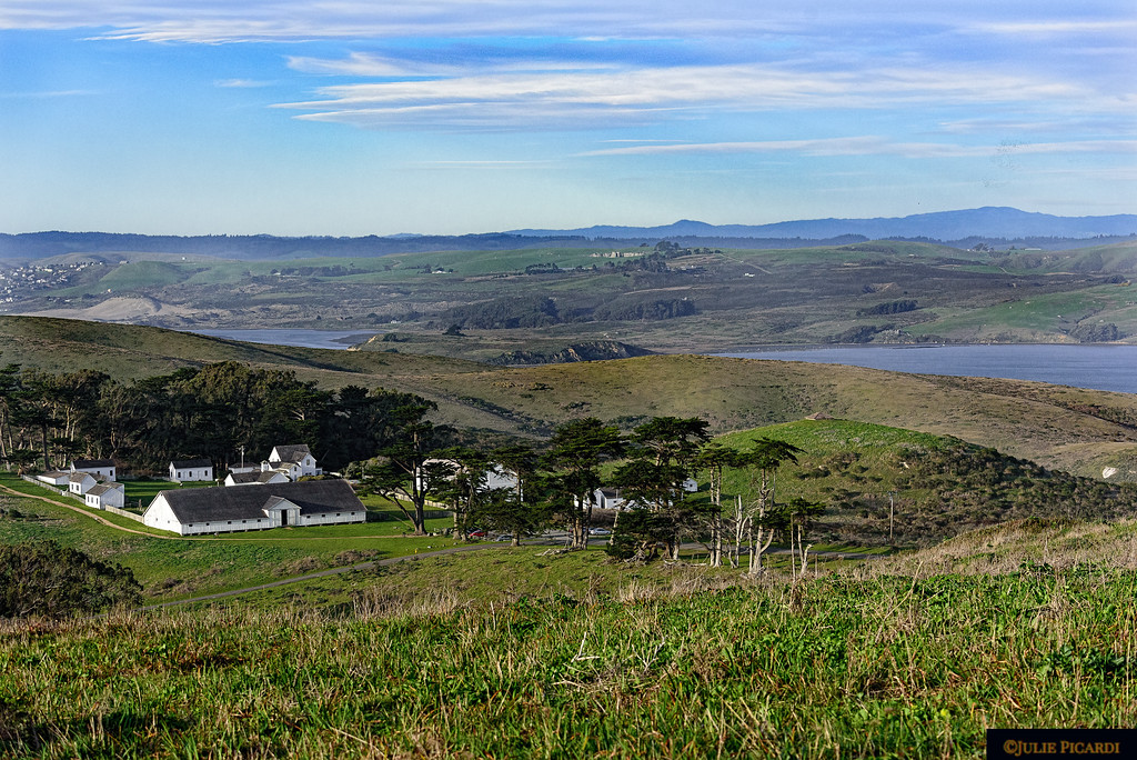 Overview of Pierce Ranch in Point Reyes National Seashore.