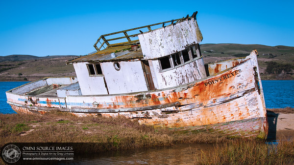 Shipwrecked on Tomales Bay - Inverness, California (near Point Reyes National Seashore). 2013-01-01