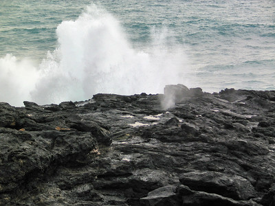 310 - small blow hole next to The Point at Poipu Resort