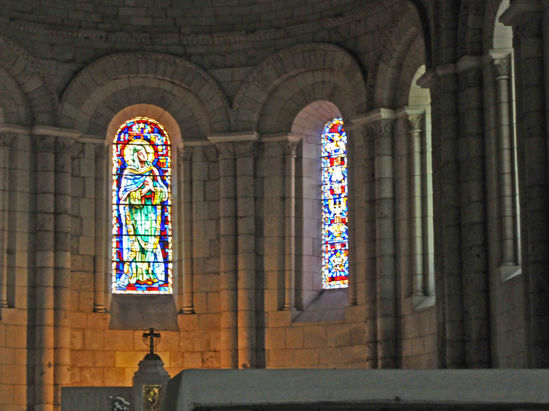 An atmospheric and well restored abbey interior.