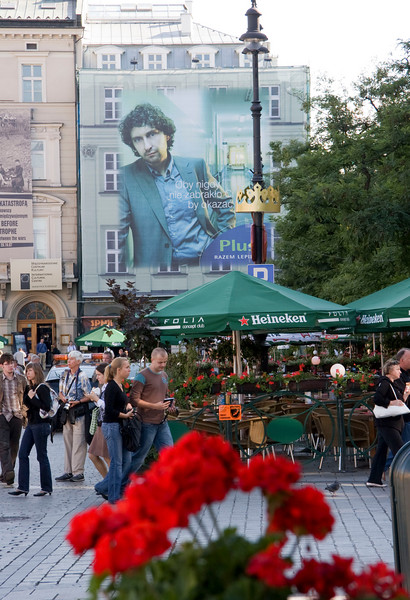 Krakow - scenes from the townsquare
