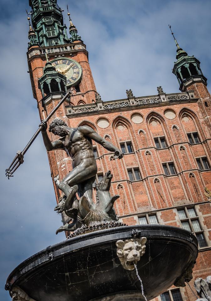 Neptune Fountain (1633) Long Street, Gdansk