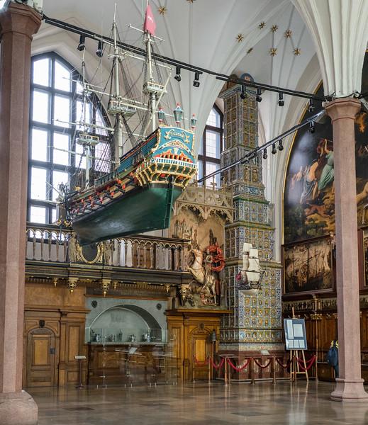Artus Court With 40 ft High 16C Renaissance Stove