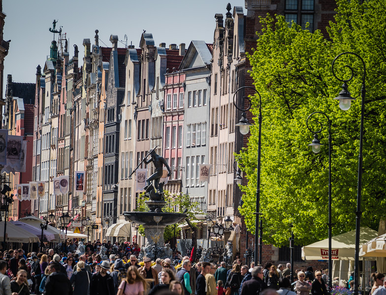 Neptune's Fountain and The Royal Way, Gdansk