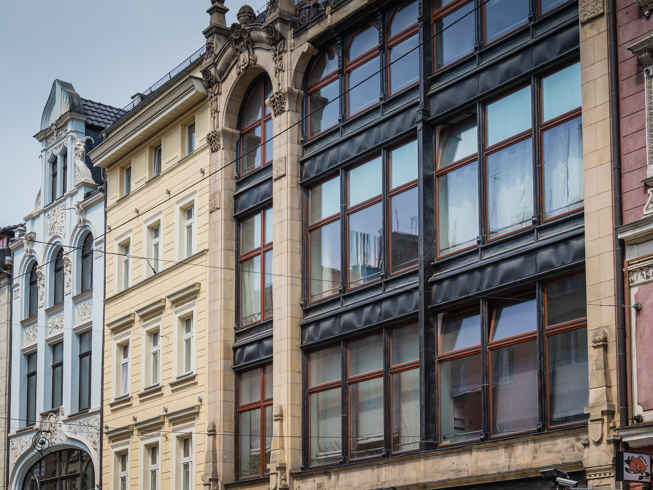 Art Nouveau Buildings Along Ruska Street, Wroclaw