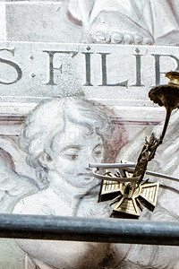 Portrait of a relative from the church wall