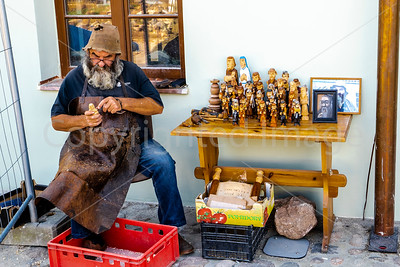 Woodcarver outside the Synagogue