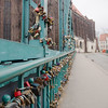 Locks on the bridge of love. Couples write their names and the date on a lock, lock their lock to the bridge, and throw the key in the river to symbolize their everlasting love.