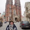 Anne in front of Cathedral